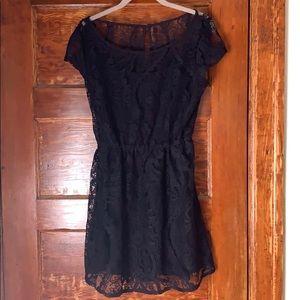 Hollister Dark Blue Lace Lined Dress